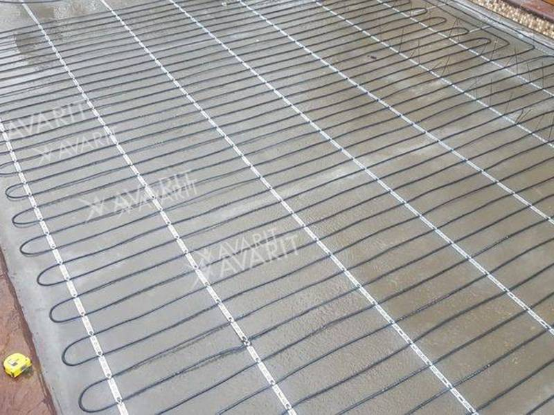 Пример укладки кабеля на площадке